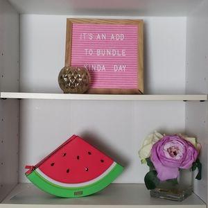 Kate Spade Watermelon Splash Out Clutch Purse